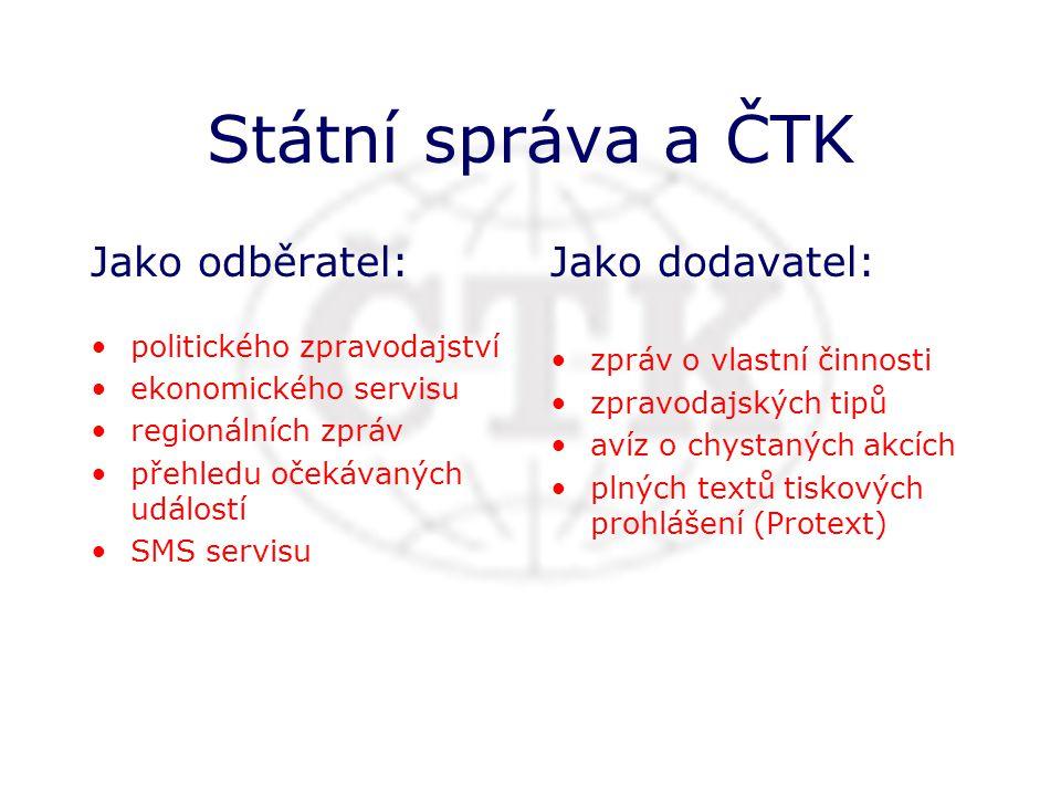 ČTK je hlavní zpravodajská instituce v České republice.