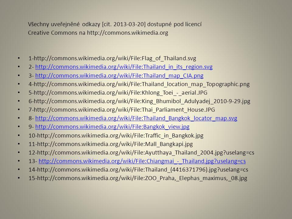 Všechny uveřejněné odkazy [cit. 2013-03-20] dostupné pod licencí Creative Commons na http://commons.wikimedia.org 1-http://commons.wikimedia.org/wiki/