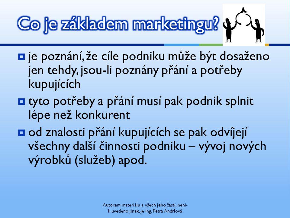  Marketingový mix = 4P 1)výrobek - … 2) cena - … 3) komunikace - … 4) distribuce - … Přiřaďte správné 4P z angličtiny??.