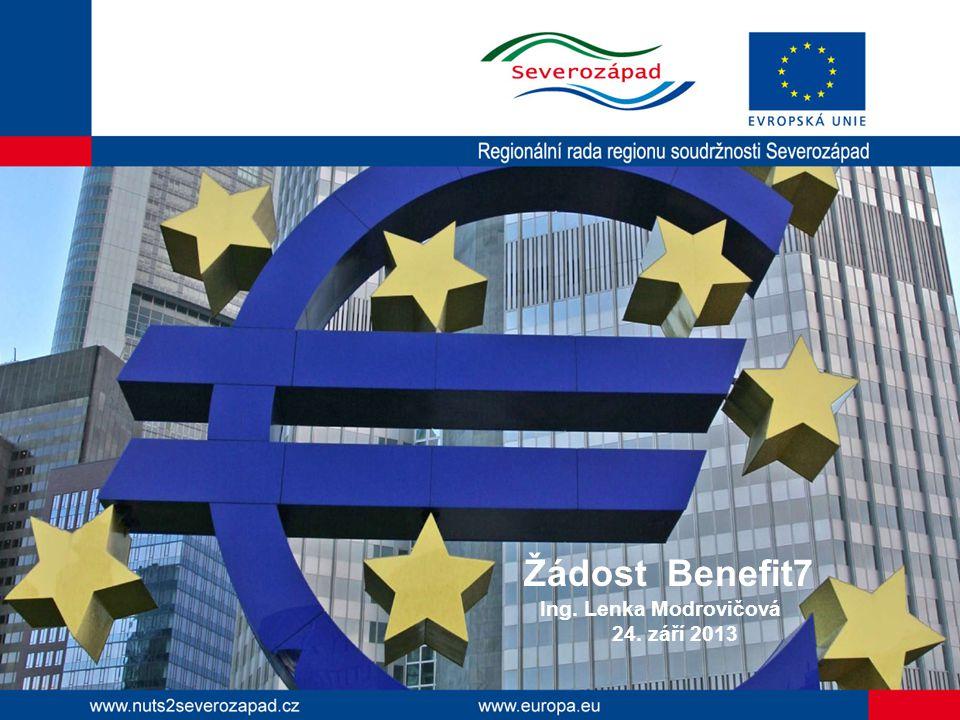 Žádost Benefit7 Ing. Lenka Modrovičová 24. září 2013