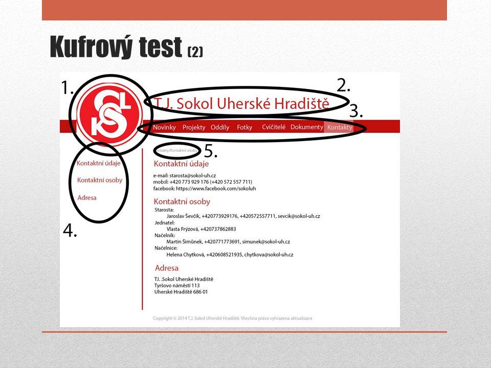 Kufrový test (2)