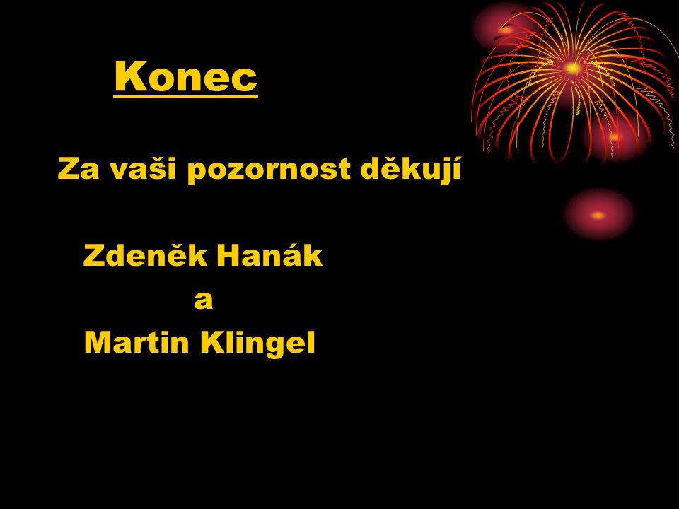 Konec Za vaši pozornost děkují Zdeněk Hanák a Martin Klingel