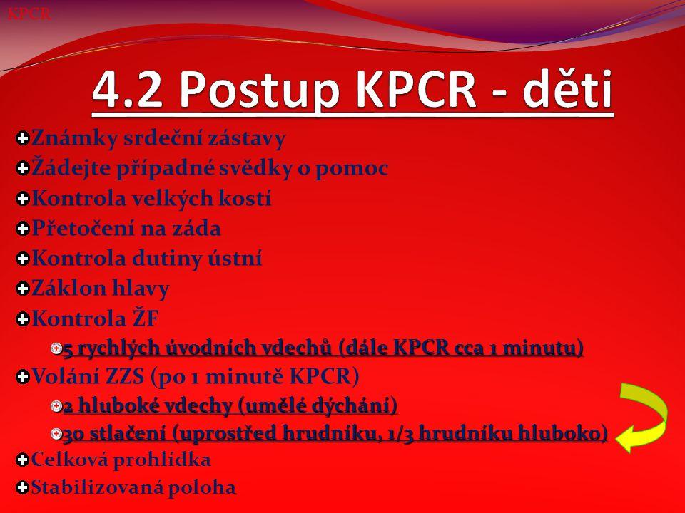 5. Správná poloha při KPCR KPCR