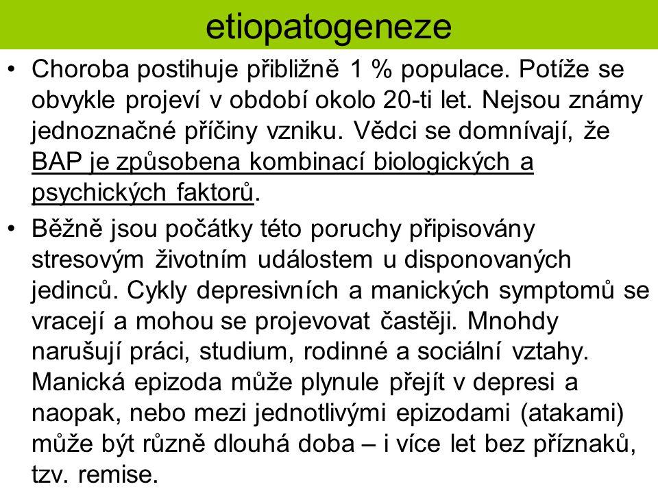 etiopatogeneze Choroba postihuje přibližně 1 % populace.