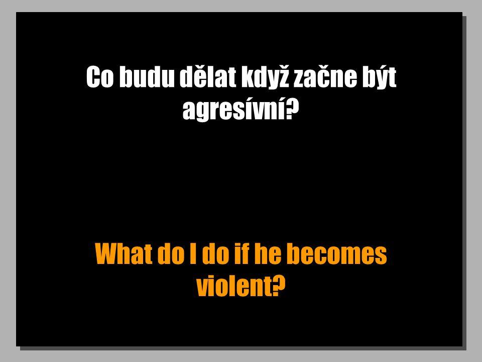 Co budu dělat když začne být agresívní What do I do if he becomes violent