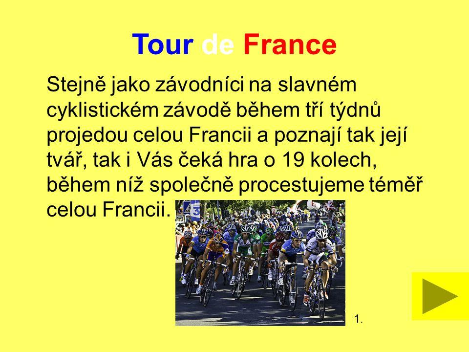 Tour de France Dostupné z Metodického portálu www.rvp.cz, ISSN: 1802-4785, financovaného z ESF a státního rozpočtu ČR. Provozováno Výzkumným ústavem p