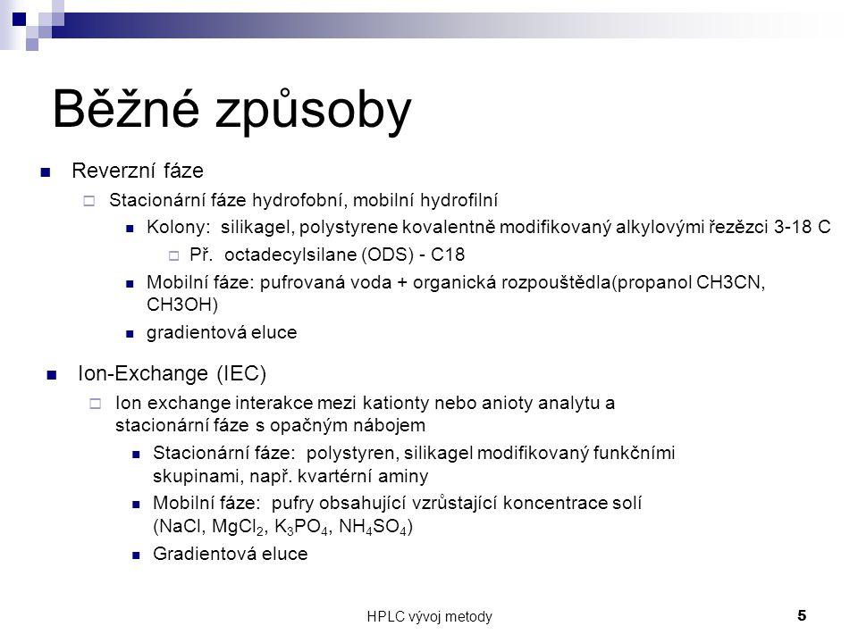 HPLC vývoj metody 26