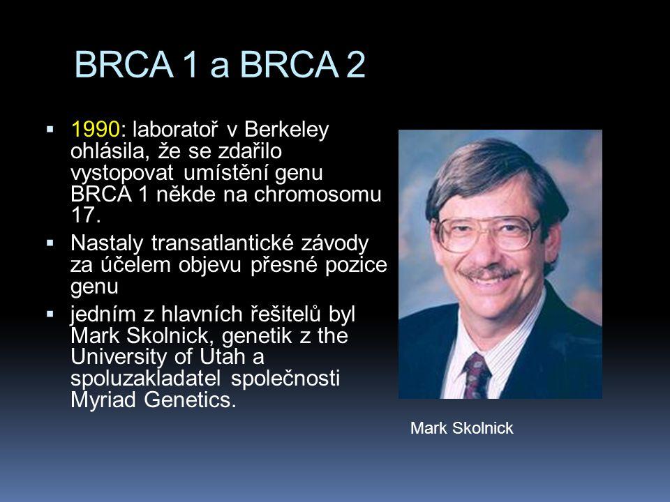 Myriad  Patenty daly Myriad virtuální zámek na výzkum a diagnostiku BRCA 1 a BRCA 2 neboť  takovýto výzkum a diagnostika požadovaly analýzu a manipulaci s DNA v isolované podobě.