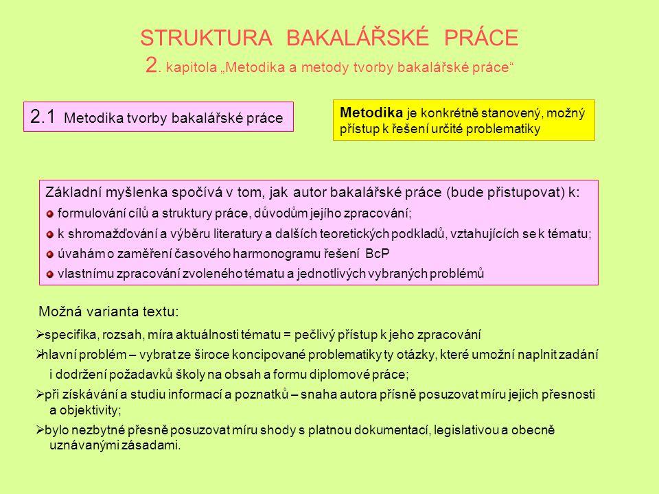 VÝZNAM A TVORBA METODICKÉ KAPITOLY Obsah: základní kritéria a parametry hodnocení = bod 2.1; charakteristika metod a postupů, které budou použity pro