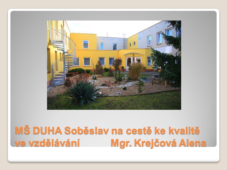 MŠ DUHA Soběslav na cestě ke kvalitě ve vzdělávání Mgr. Krejčová Alena