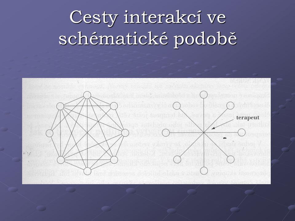 Cesty interakcí ve schématické podobě