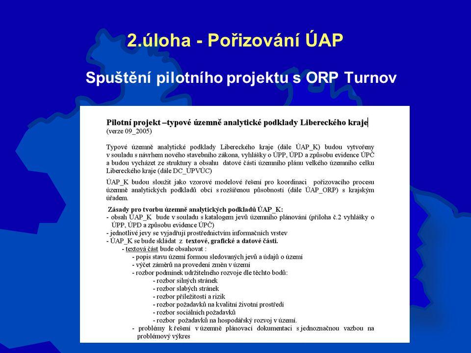 2.úloha - Pořizování ÚAP Spuštění pilotního projektu s ORP Turnov