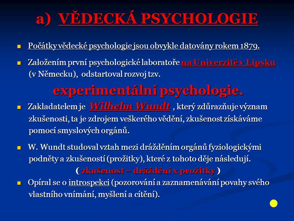 Zakladatel psychologie Wilhelm Wundt zhruba okolo roku 1880 se svým výzkumným týmem v laboratoři v Lipsku.