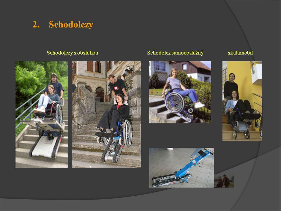 2. Schodolezy Schodolezy s obsluhou Schodolez samoobslužný skalamobil
