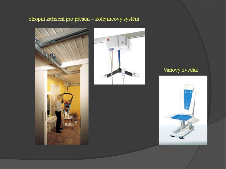 Stropní zařízení pro přesun – kolejnicový systém Vanový zvedák