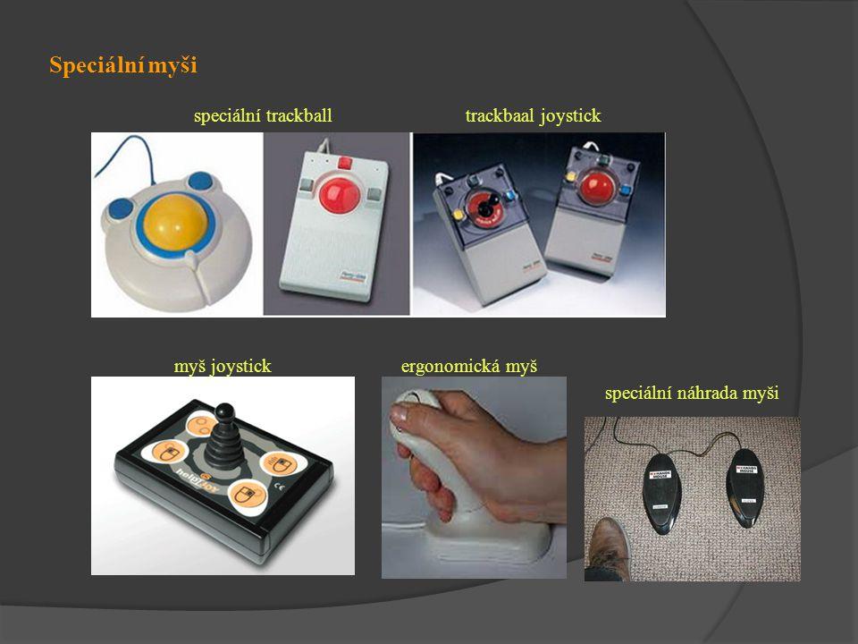 Speciální myši speciální trackball trackbaal joystick myš joystick ergonomická myš speciální náhrada myši