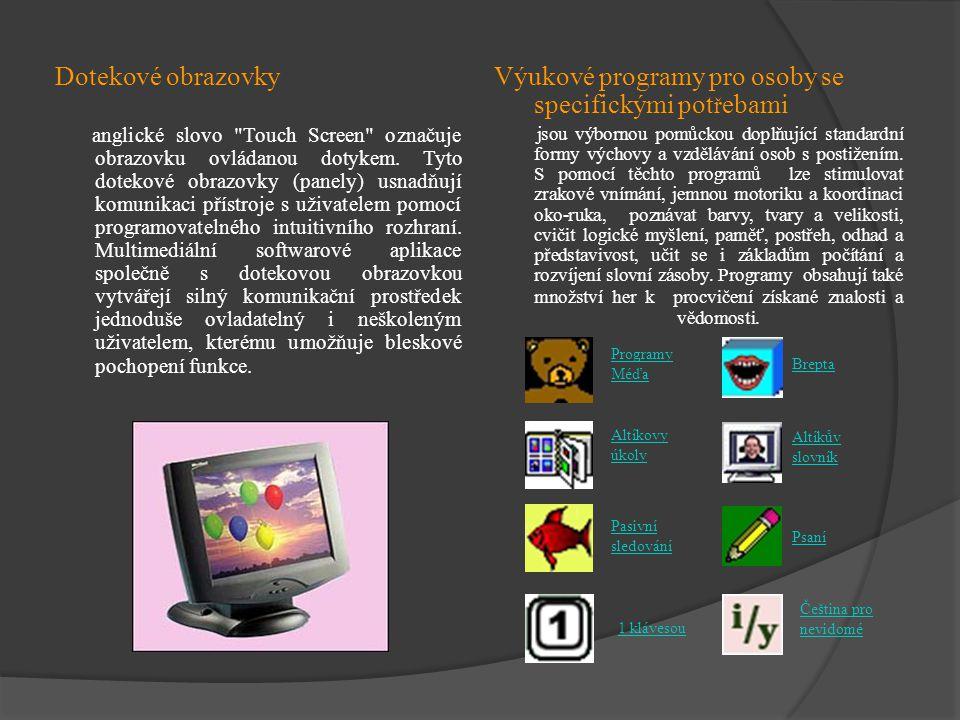 Dotekové obrazovky anglické slovo