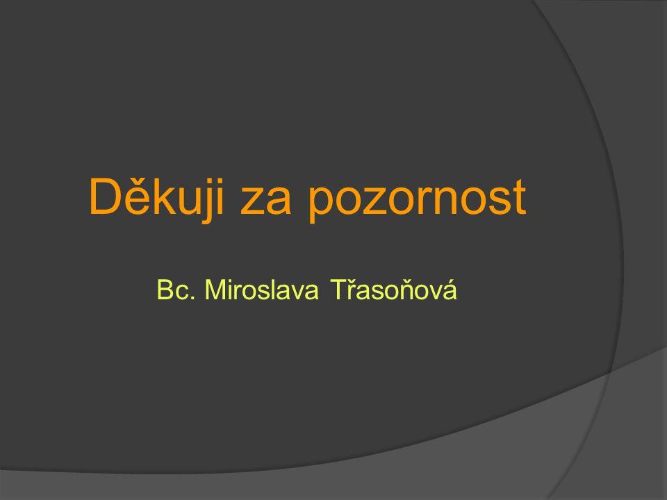 Děkuji za pozornost Bc. Miroslava Třasoňová