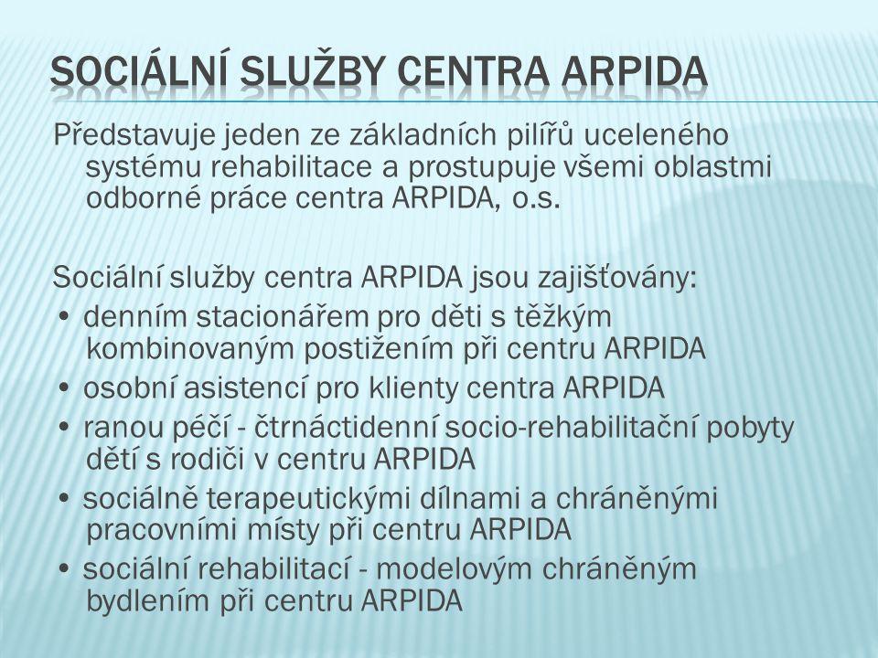 Představuje jeden ze základních pilířů uceleného systému rehabilitace a prostupuje všemi oblastmi odborné práce centra ARPIDA, o.s.