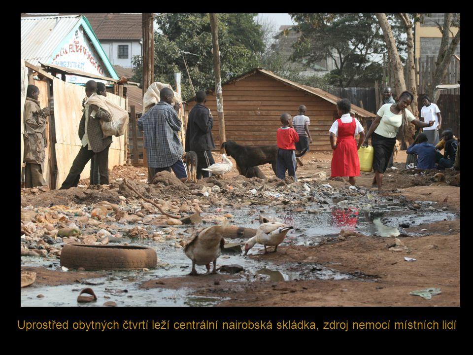 Uprostřed obytných čtvrtí leží centrální nairobská skládka, zdroj nemocí místních lidí