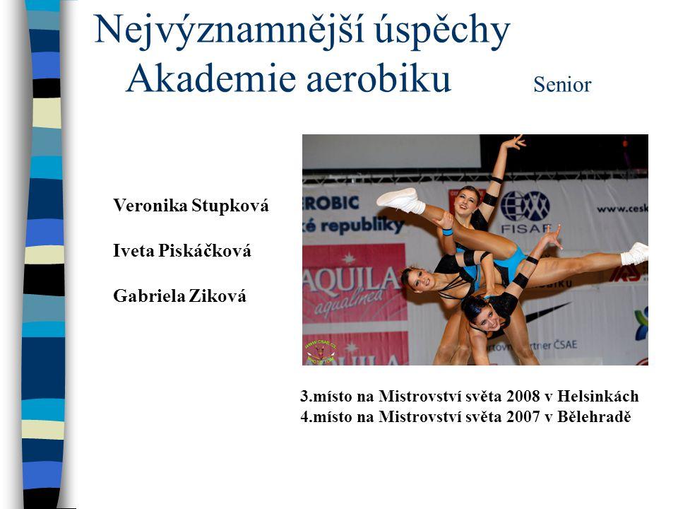 Nejvýznamnější úspěchy Akademie Aerobiku Petra Machová /19 let/  1.