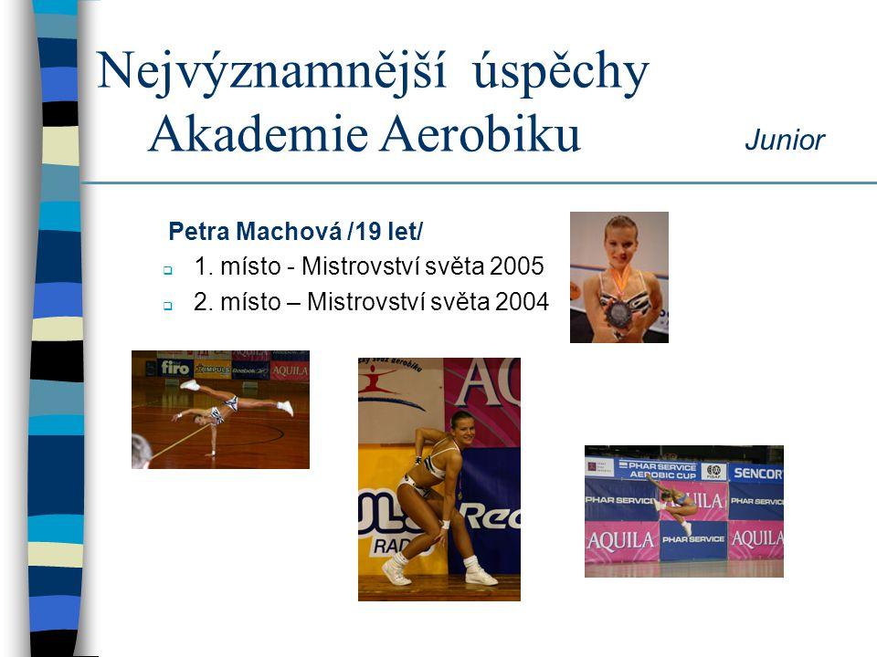 Nejvýznamnější úspěchy Akademie Aerobiku Lenka Jiřenová /17 let/  2.
