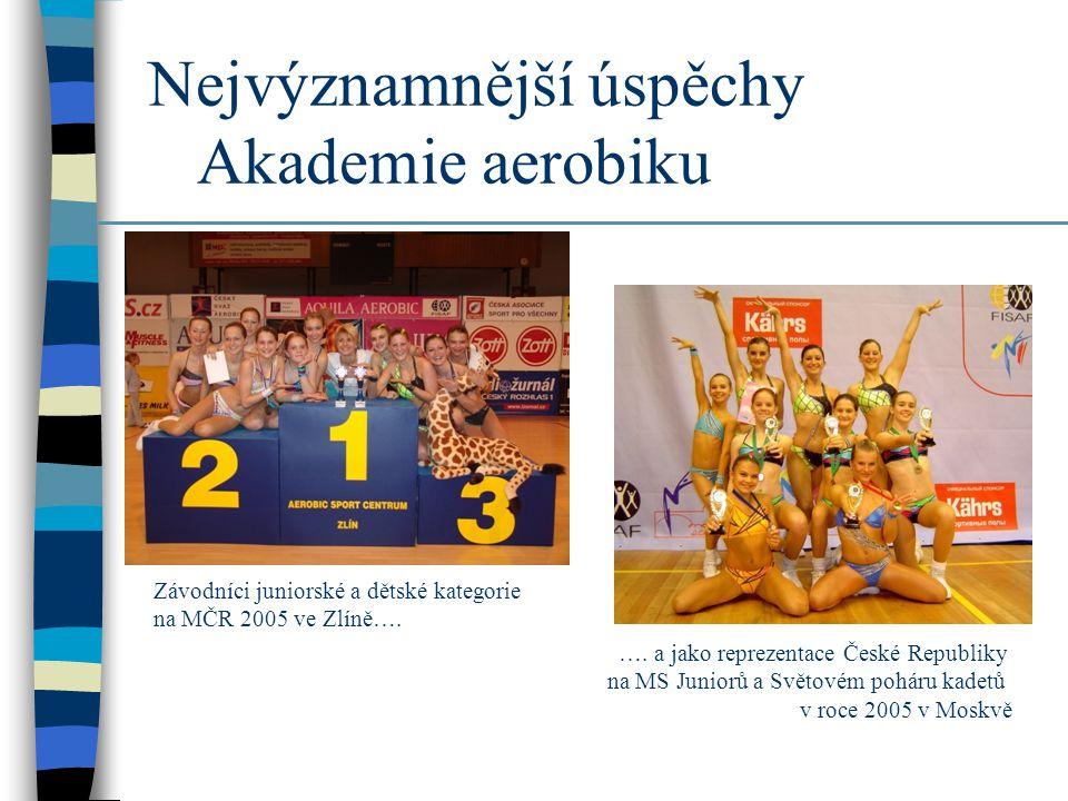 Akademie aerobiku na světových závodech (2005) ….