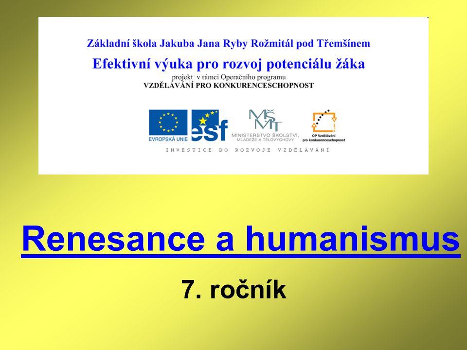 Renesance a humanismus 7. ročník