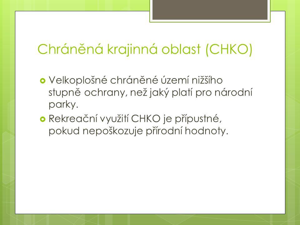 Mapa NP a CHKO v ČR