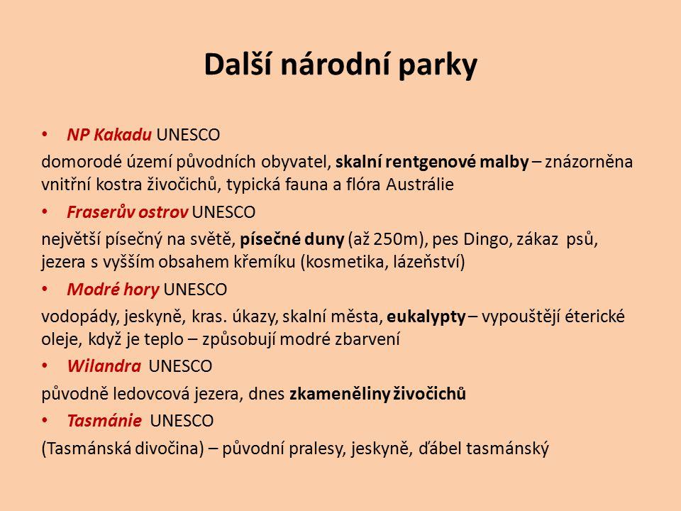 Další národní parky NP Kakadu UNESCO domorodé území původních obyvatel, skalní rentgenové malby – znázorněna vnitřní kostra živočichů, typická fauna a