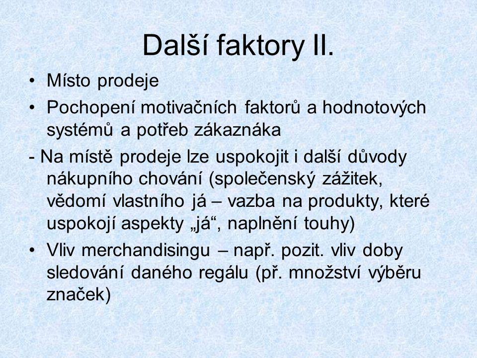 Další faktory II.