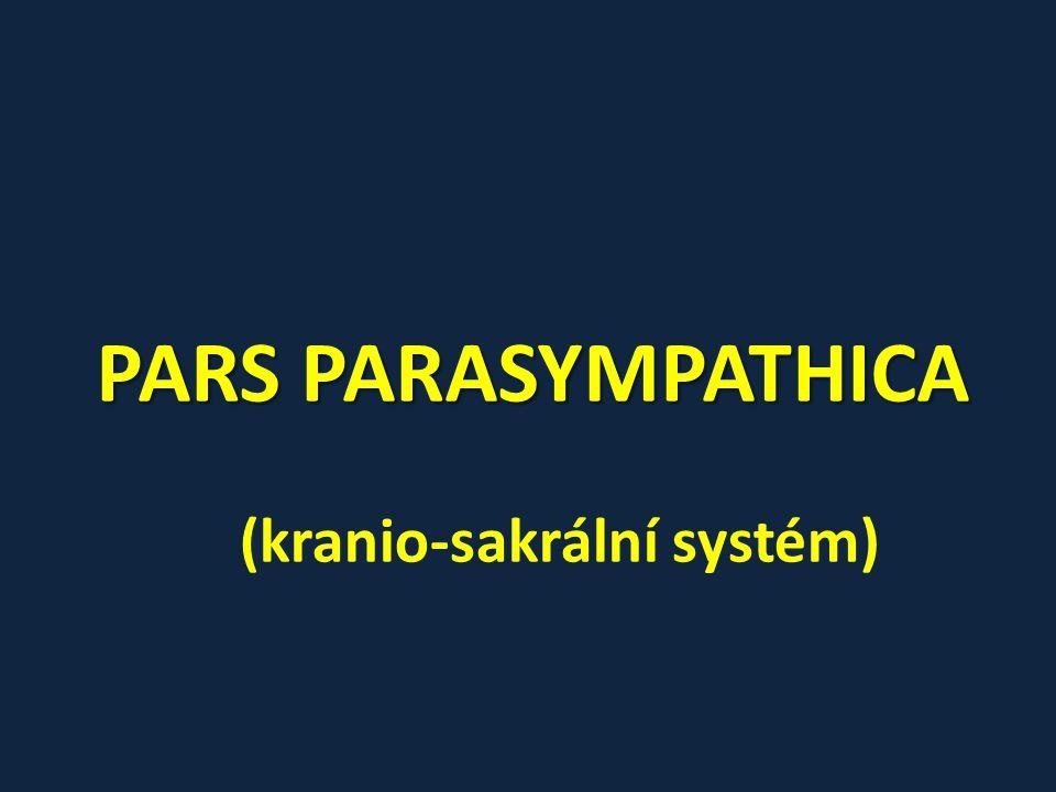 PARS PARASYMPATHICA (kranio-sakrální systém)