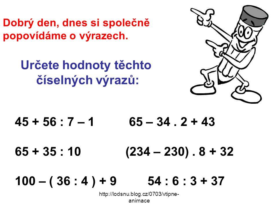 http://lodsnu.blog.cz/0703/vtipne- animace Dobrý den, dnes si společně popovídáme o výrazech.