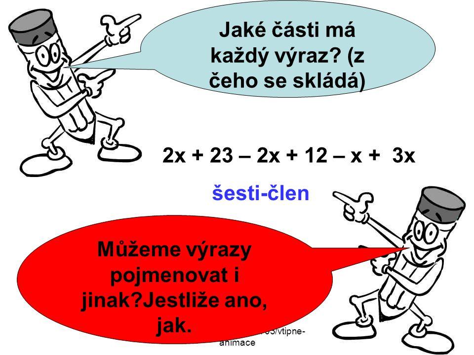 http://lodsnu.blog.cz/0703/vtipne- animace Můžeme výrazy pojmenovat i jinak Jestliže ano, jak.
