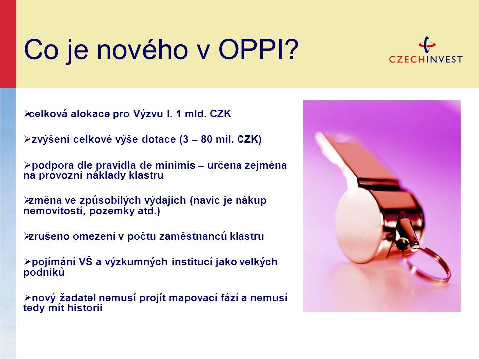 Co je nového v OPPI.  celková alokace pro Výzvu I.