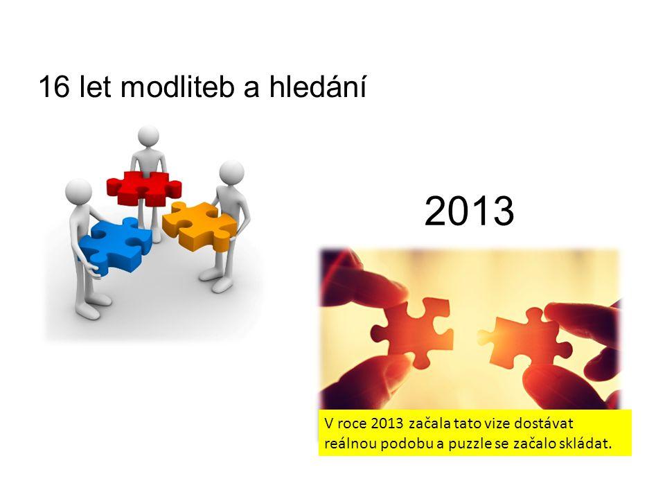 16 let modliteb a hledání 2013 V roce 2013 začala tato vize dostávat reálnou podobu a puzzle se začalo skládat.