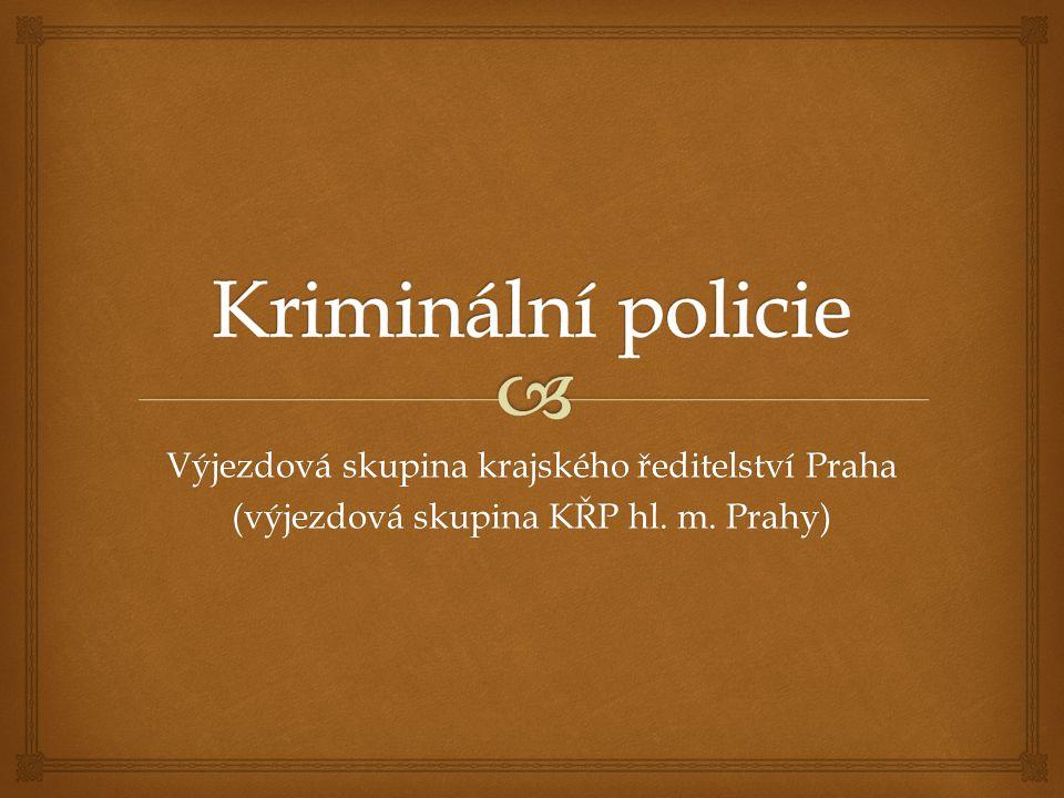 Výjezdová skupina krajského ředitelství Praha (výjezdová skupina KŘP hl. m. Prahy)