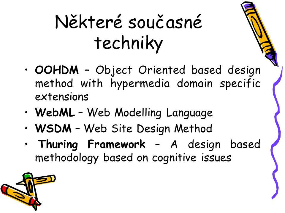 Cíl této přednášky Přehled metodologií pro tvorbu webových sídel