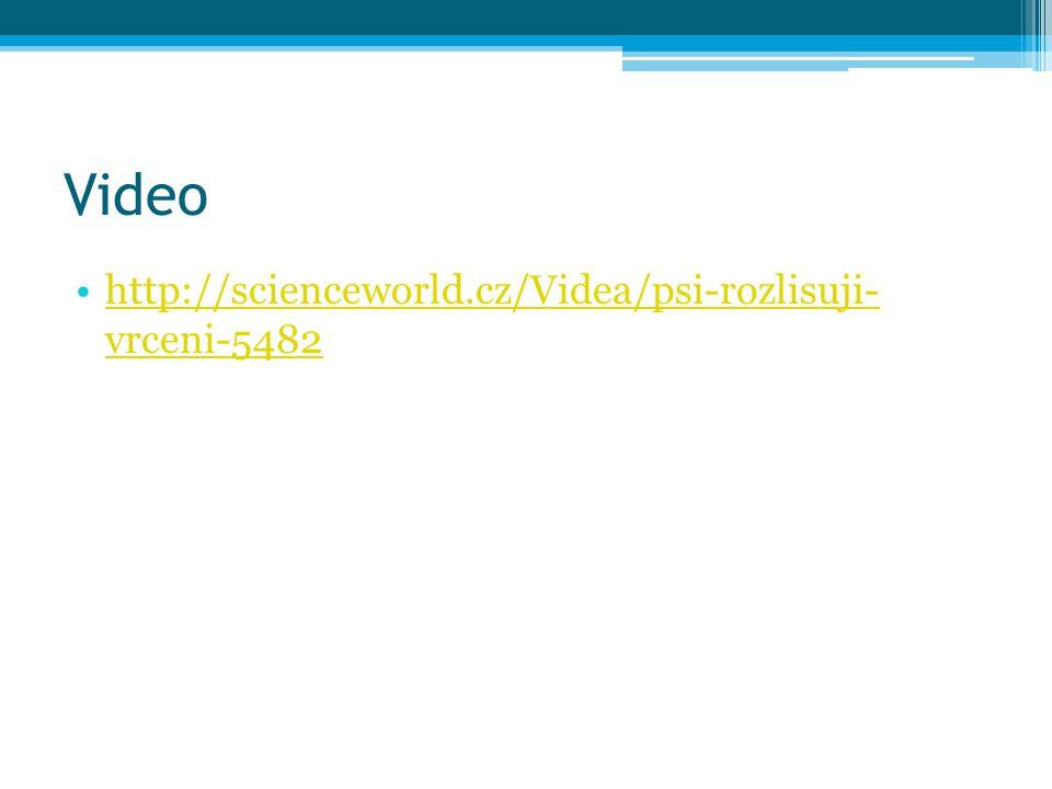 Video http://scienceworld.cz/Videa/psi-rozlisuji- vrceni-5482http://scienceworld.cz/Videa/psi-rozlisuji- vrceni-5482