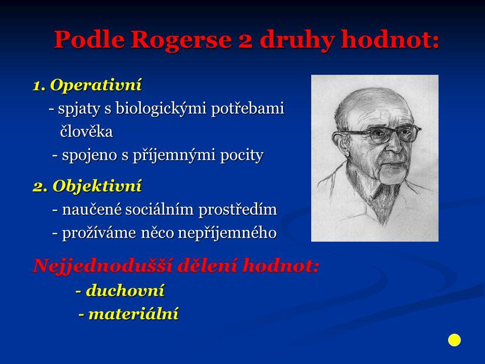 Podle Rogerse 2 druhy hodnot: