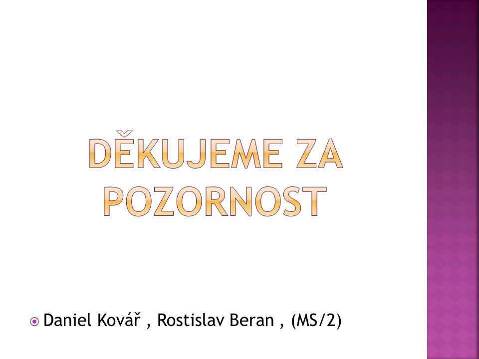  Daniel Kovář, Rostislav Beran, (MS/2)