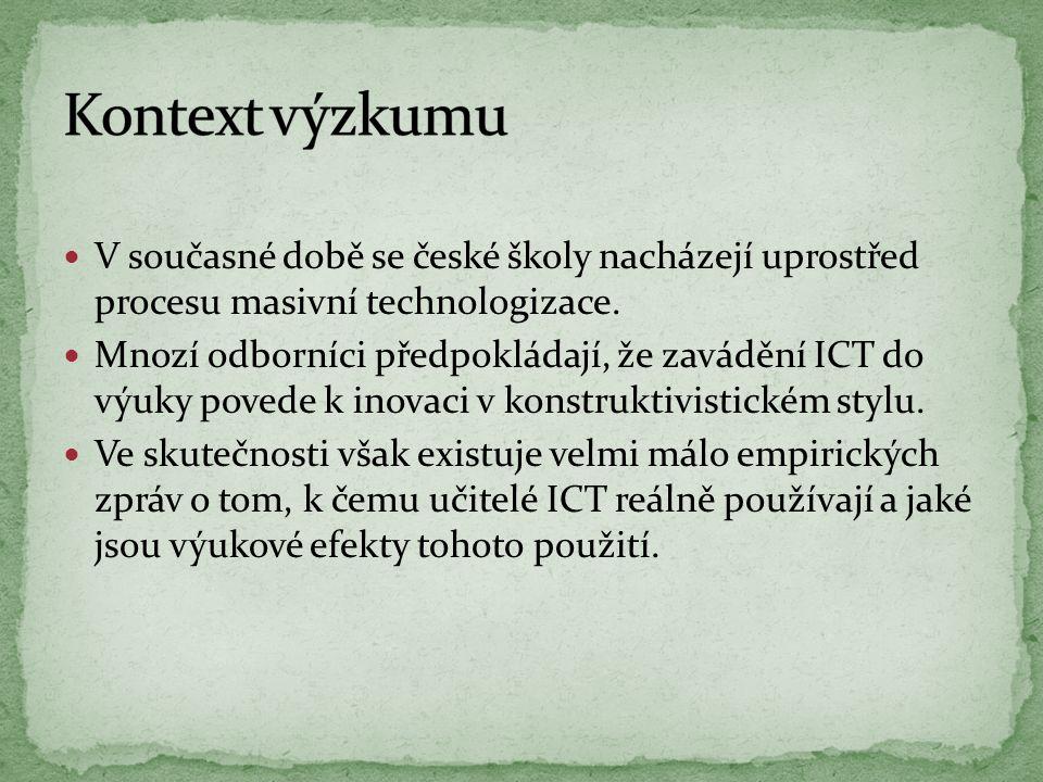 V současné době se české školy nacházejí uprostřed procesu masivní technologizace. Mnozí odborníci předpokládají, že zavádění ICT do výuky povede k in