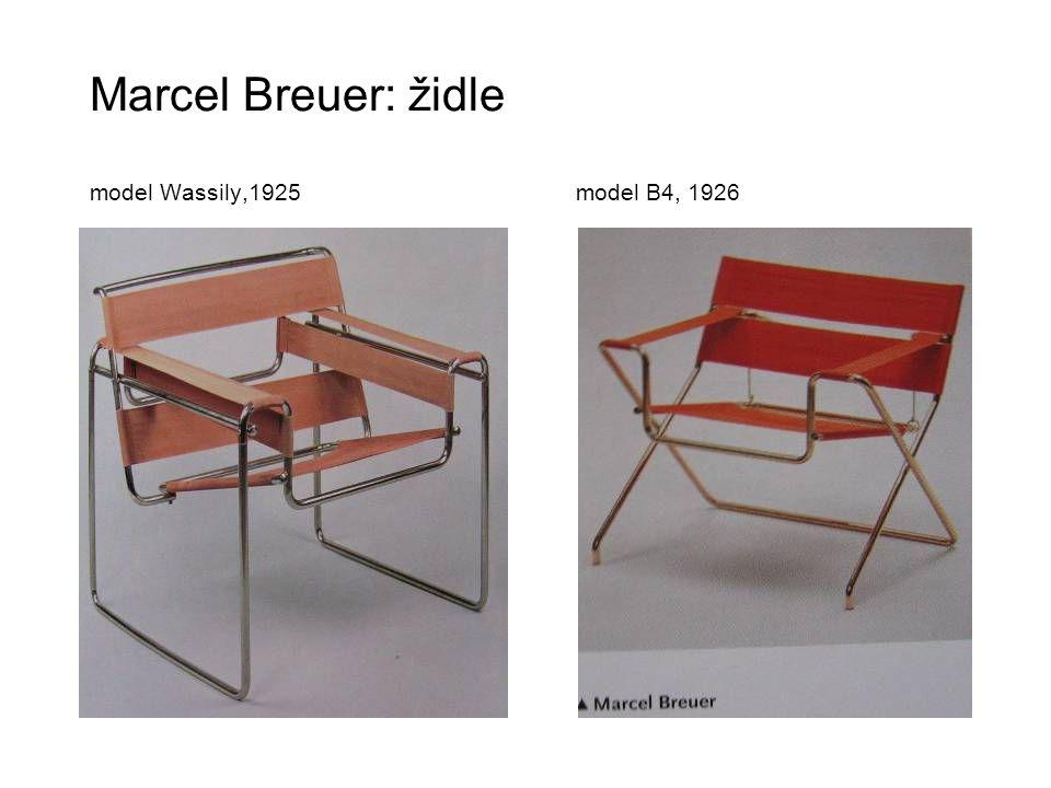 Marcel Breuer: židle model Wassily,1925 model B4, 1926