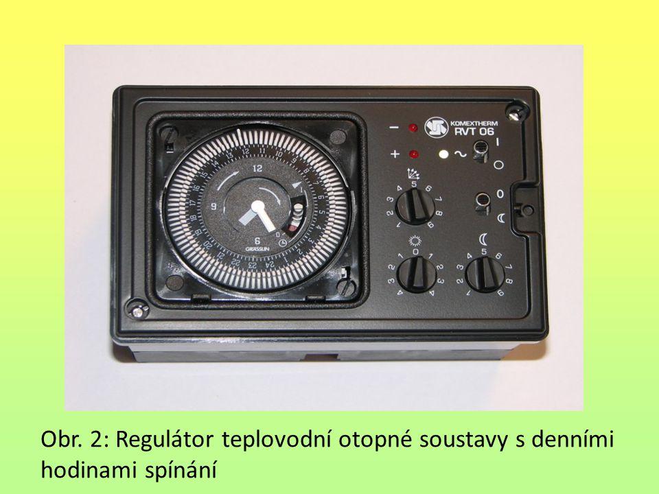 Obr. 2: Regulátor teplovodní otopné soustavy s denními hodinami spínání