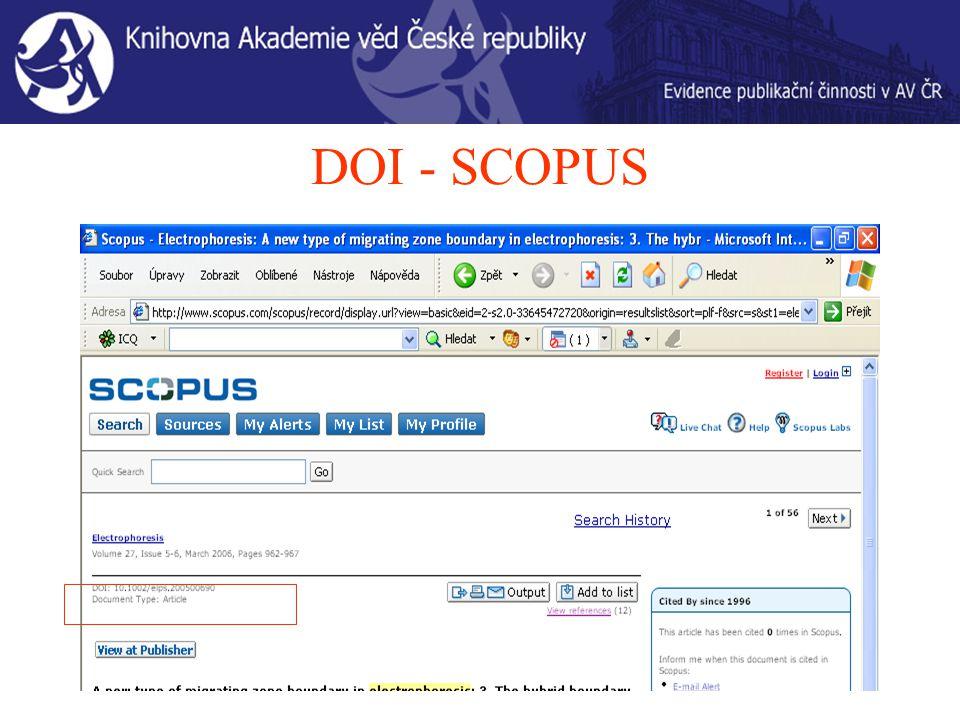 DOI - SCOPUS