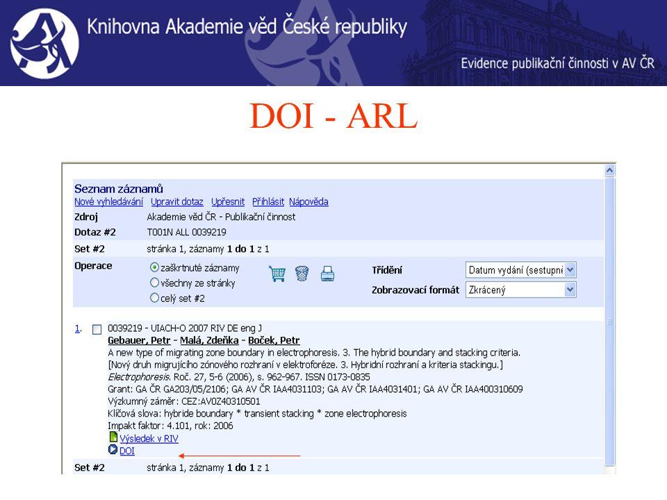 DOI - ARL