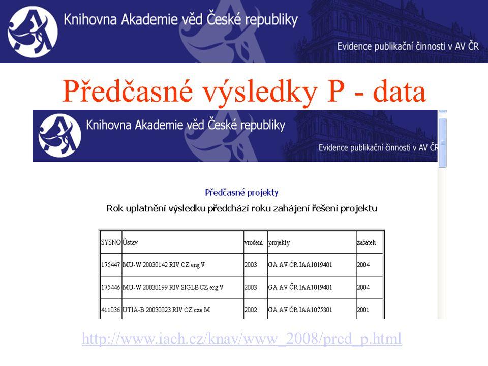 Závěr Opravy dat 2007 Vstup dat 2008 – průběžně Návrhy na úpravu IPAC arl@lib.cas.cz Předmět: IPAC