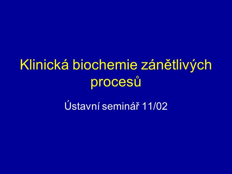 Klinická biochemie zánětlivých procesů Ústavní seminář 11/02