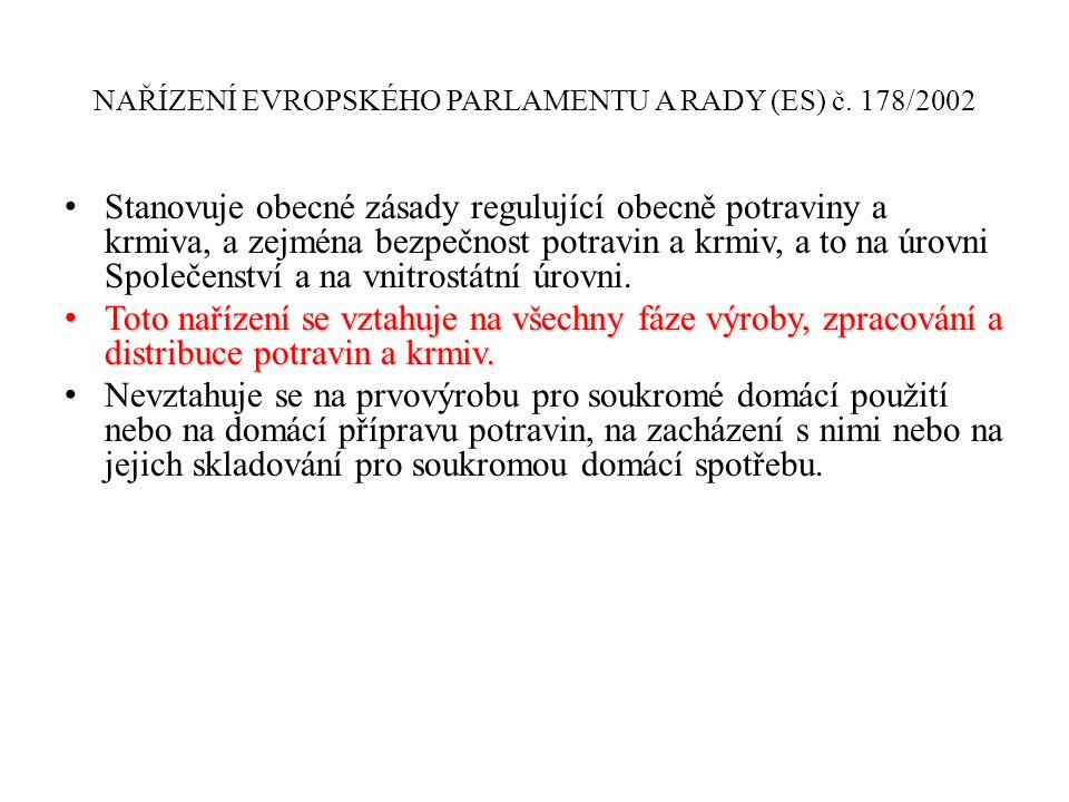 SRM Specifikovaný rizikový materiál by měl být v souladu s požadavky nařízení (EU) č.