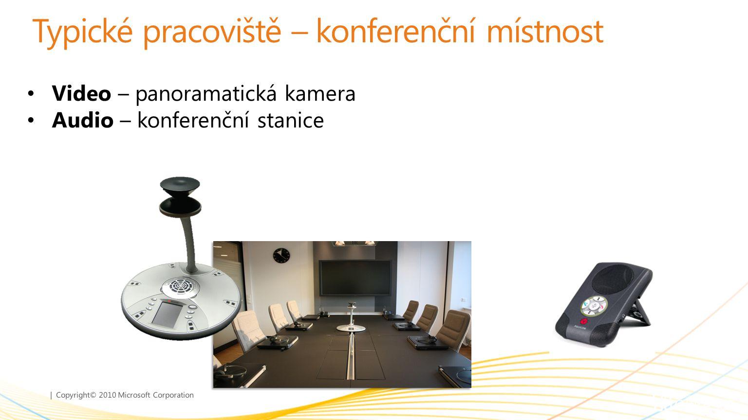 | Copyright© 2010 Microsoft Corporation Typické pracoviště – konferenční místnost